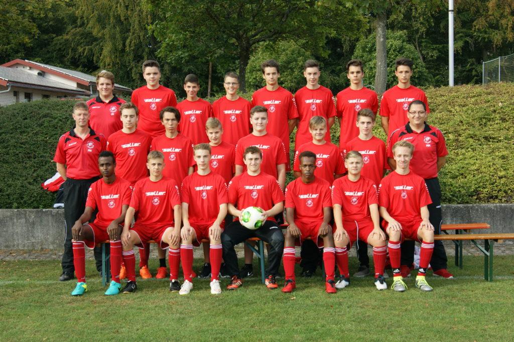 Mannschaftsfoto U17 Saison 2016/2017